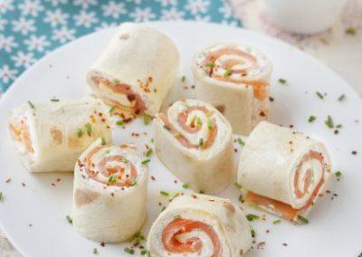 Tortilla froides au saumon